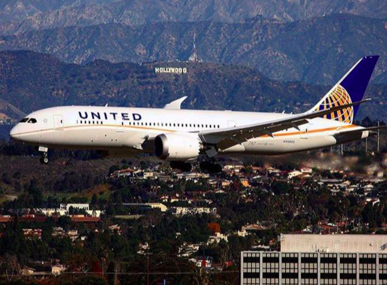 Atterraggio di emergenza per un volo United