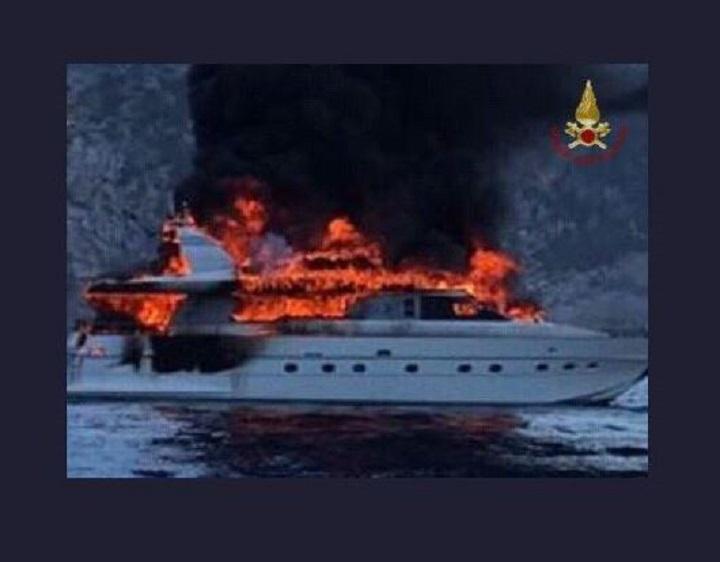 yacht brucia 2
