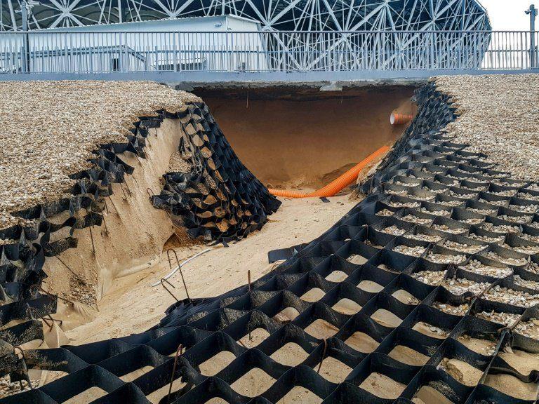 Volgograd Arena: frane e alluvioni