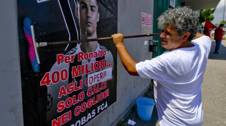 Lo sciopero Fiat contro l'acquisto di Ronaldo