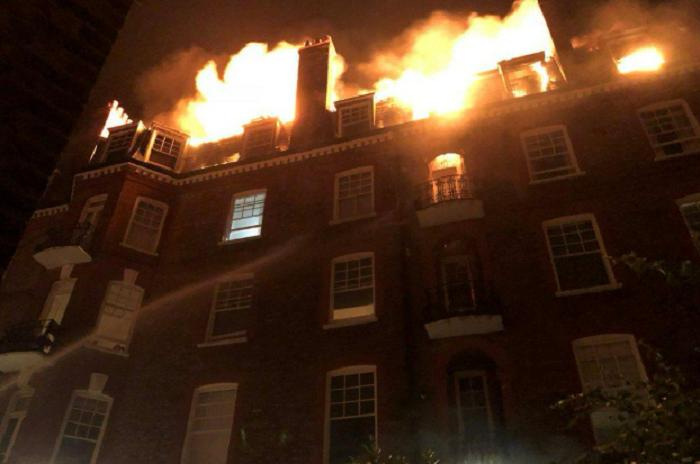 Incendio a Londra