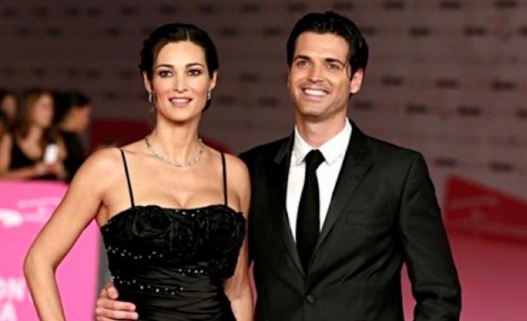 Manuela Arcuri con il fratello Sergio