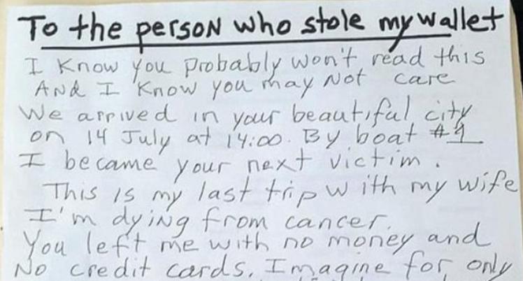 Malato di cancro viene rapinato