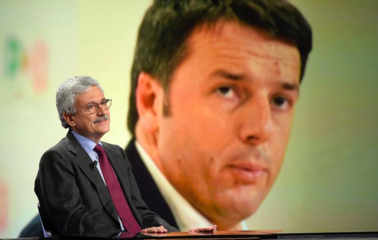 D'Alema parla di Renzi come presentatore TV