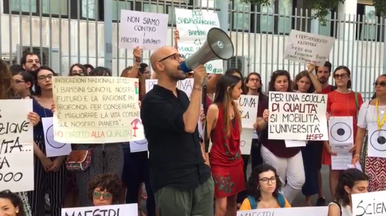 La protesta degli insegnanti