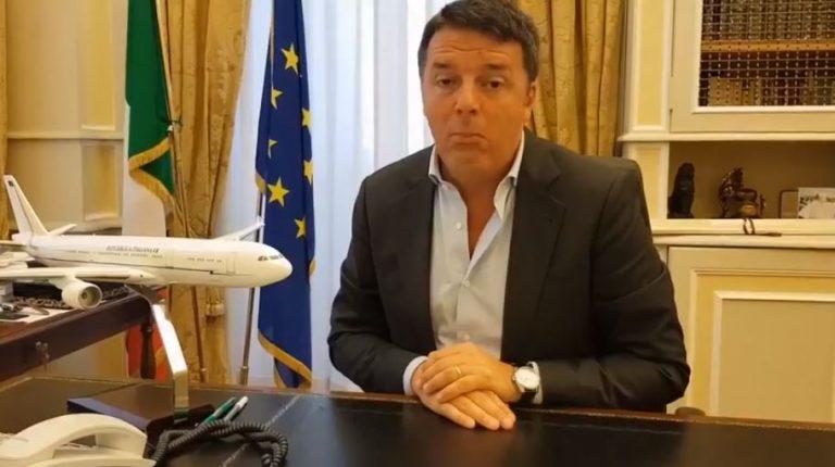 Matteo Renzi in diretta Air Force Renzi è una bufala