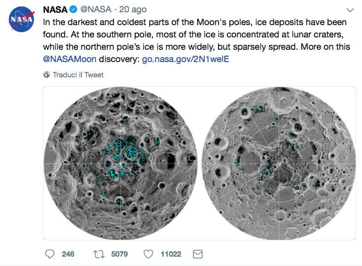 Il tweet della Nasa