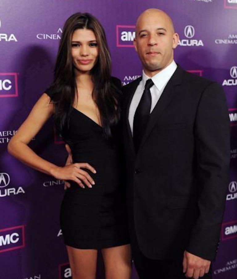 La modella Paloma Jimenez con il marito Vin Diesel