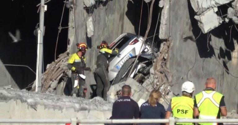 Il primo video immediatamente successivo alla tragedia di Genova — ESCLUSIVO TPI.it