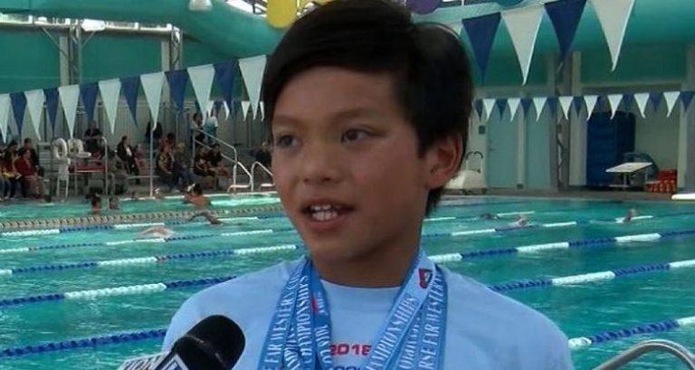 bambino 10 anni batte record di Phelps