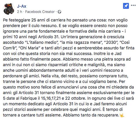 J-ax riunisce gli Articolo 31