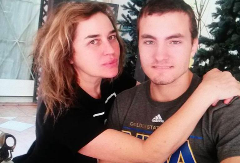 Lory Del Santo e il figlio