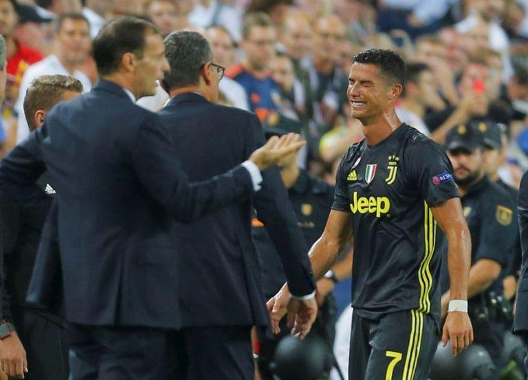 Ronaldo esce in lacrime