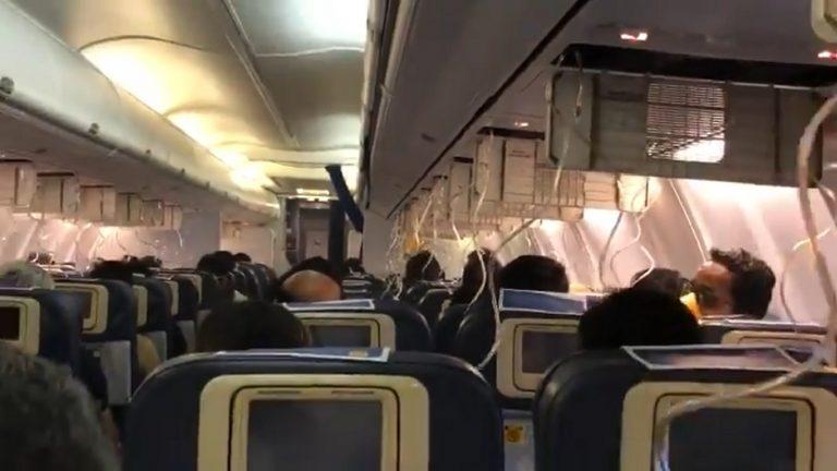 panico volo di linea