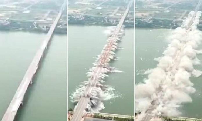 ponte demolito cina