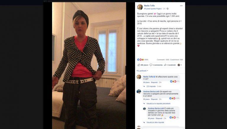 Nadia Toffa post ambiguo: vittima di un hacker?