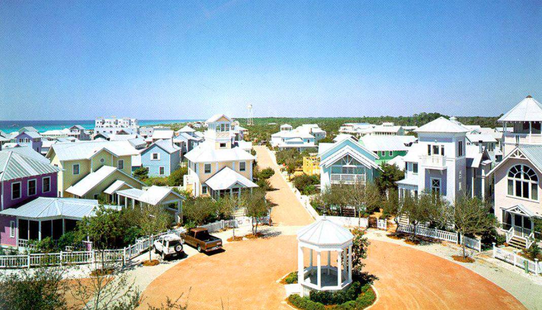 Le case color pastello di Seaside