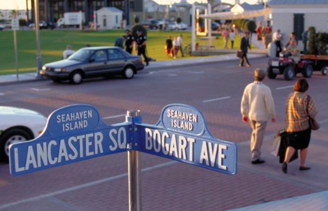 Le strade di Seaside in The Truman Show