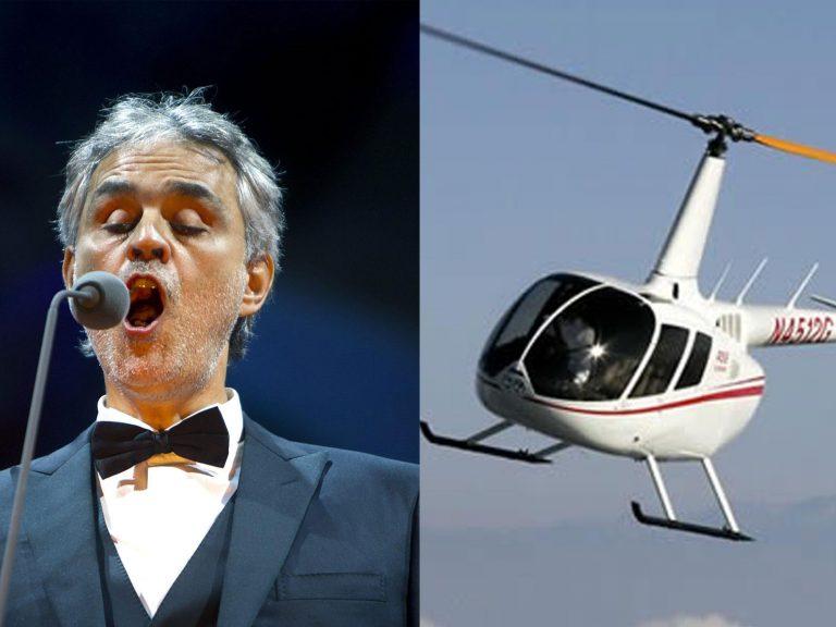 Paura per Andrea Bocelli, atterraggio d'emergenza