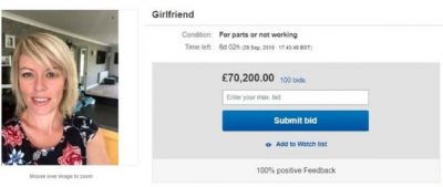 fidanzata su ebay