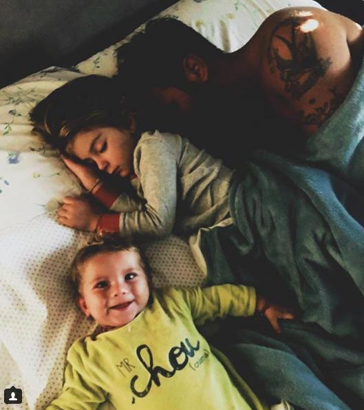 Francesco Arca con i figli