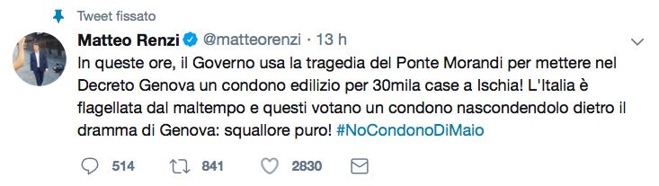 Tweet Renzi