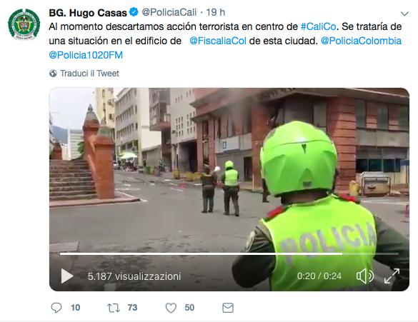 esplosione cali colombia palazzo procura