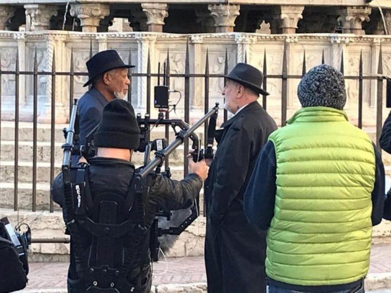 Morgan Freeman per le strade di Perugia