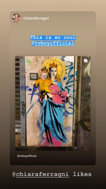murales ChiaraFerragni