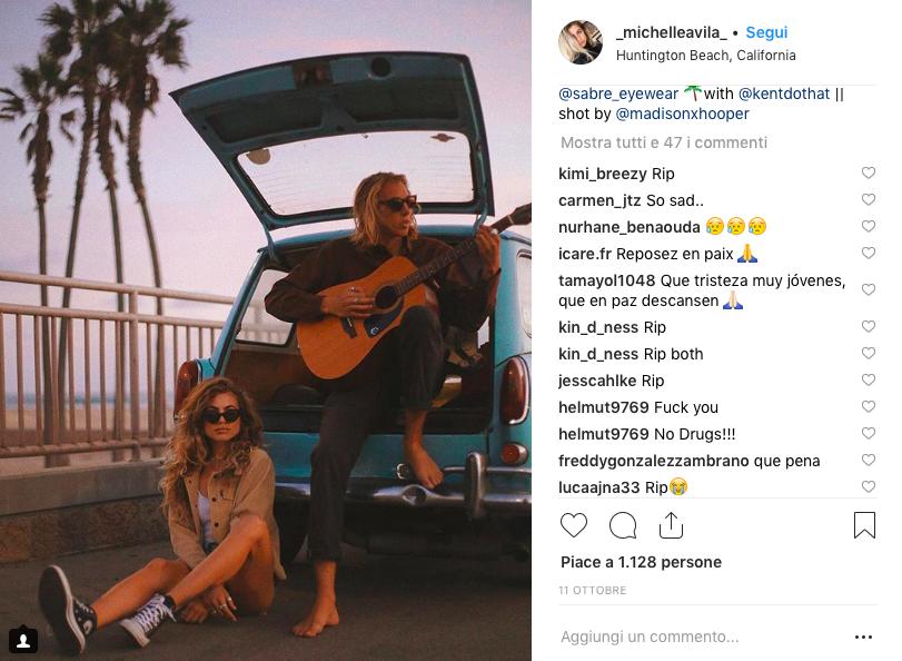 coppia influencer morti instagram