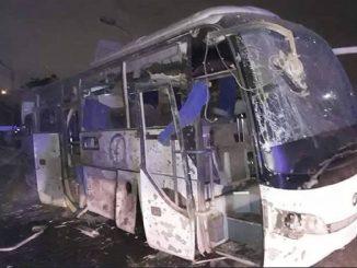 Egitto, bus colpito da esplosione