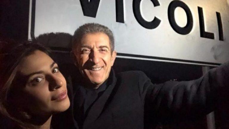 Ezio Greggio e Romina Pierdomenico in visita a Vicoli