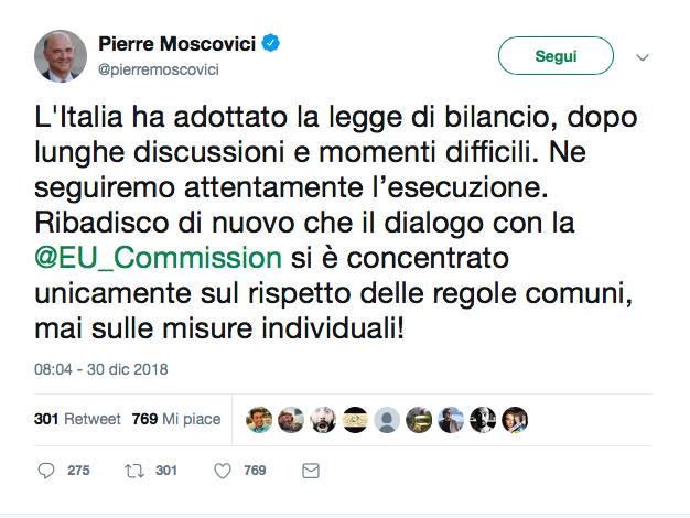 Il post di Moscovici