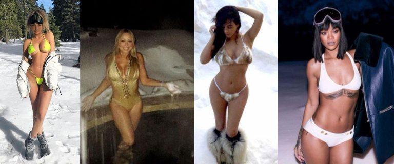 bikini sulla neve