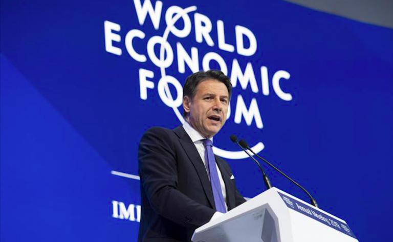 Conte a Davos, Europa del popolo