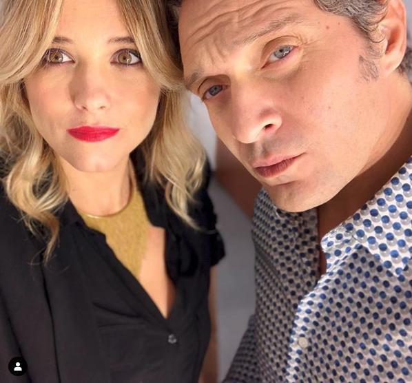 Francesca Barra col marito Claudio Santamaria