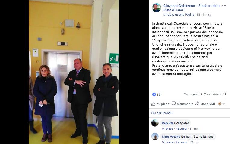 facebook sindaco Locri