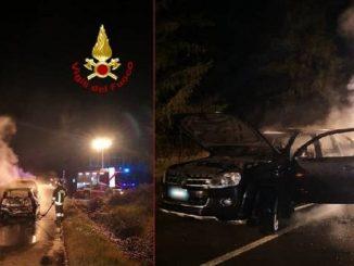 Siena, maxi incidente tra 5 vetture: due vanno a fuoco
