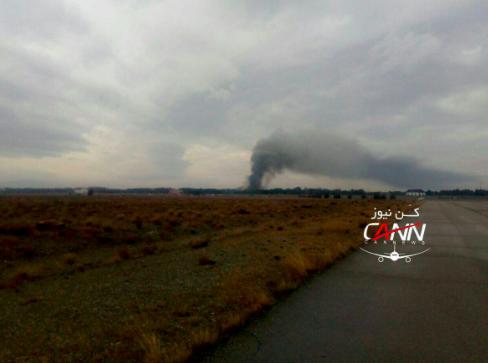 L'aereo ha preso fuoco dopo l'impatto