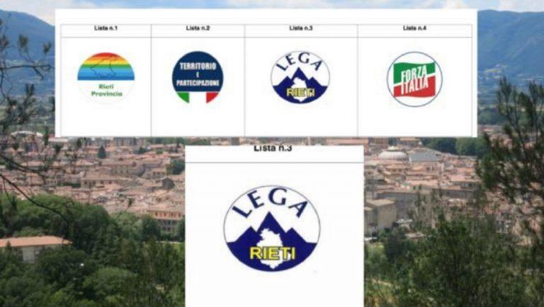 Rieti, la gaffe della Lega: nel simbolo la sagoma dell'Umbria