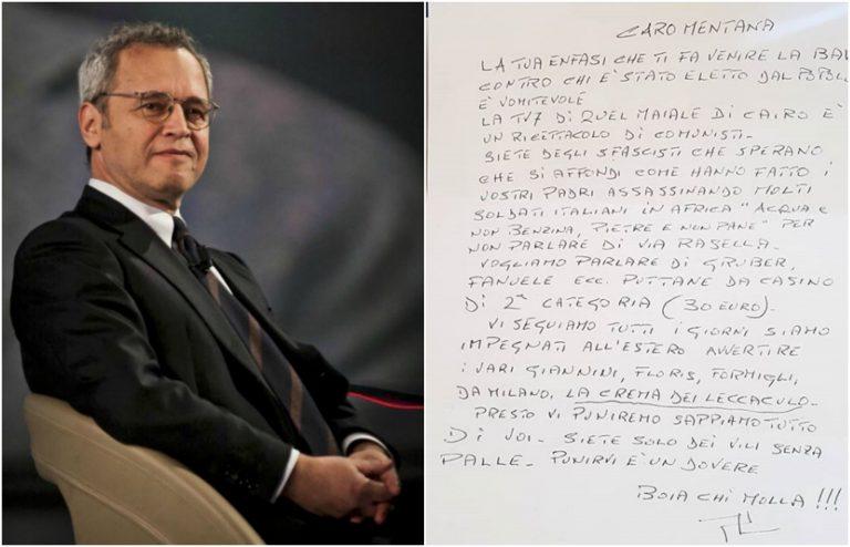 Lettera di minacce a Mentana e La7
