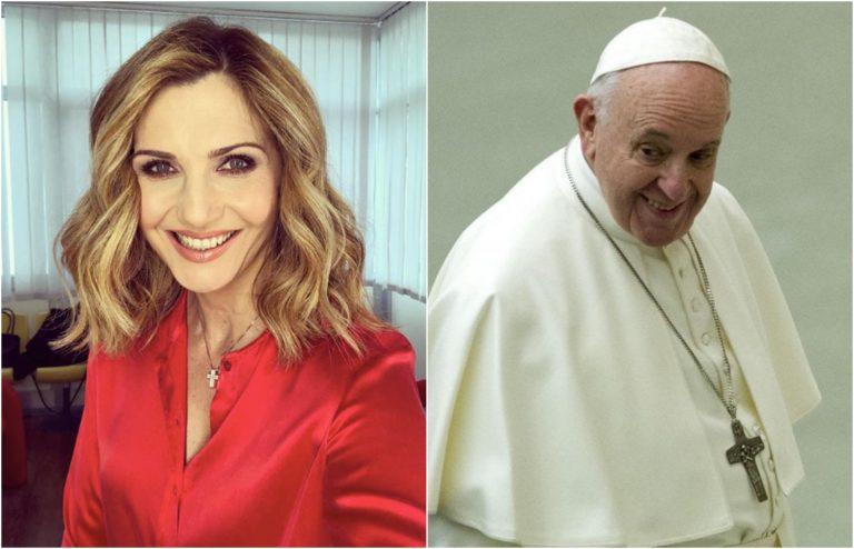 Lorella Cuccarini contro papa Francesco