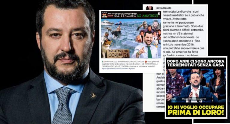 Matteo Salvini, le bufale sui terremotati