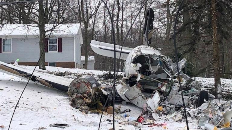 ohio aereo privato precipita due morti