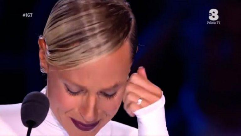 Italia's Got Talent, le prime lacrime di Federica Pellegrini in TV