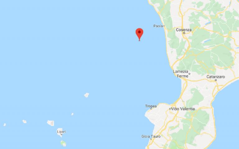 Calabria, terremoto al largo della costa tirrenica: magnitudo 3.2