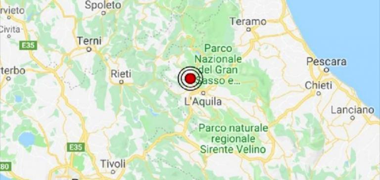 Abruzzo, terremoto a Pizzoli