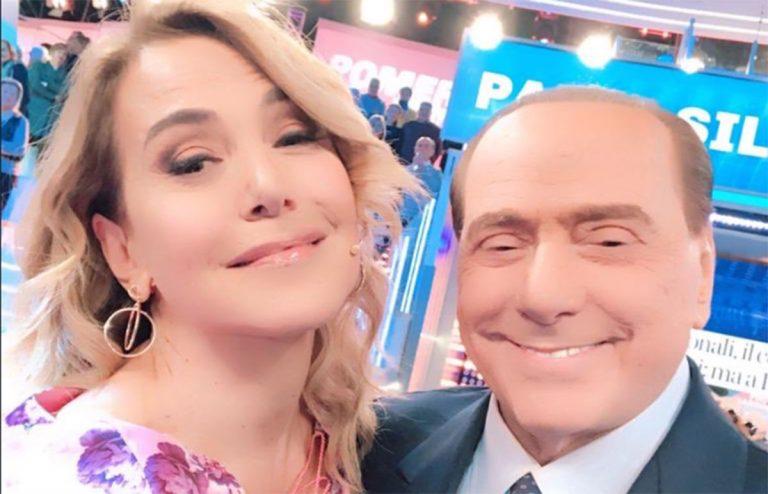 Barbara D'Urso con Silvio Berlusconi