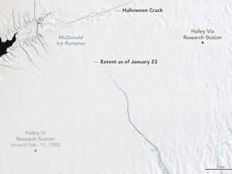 brunt ice shelf crack