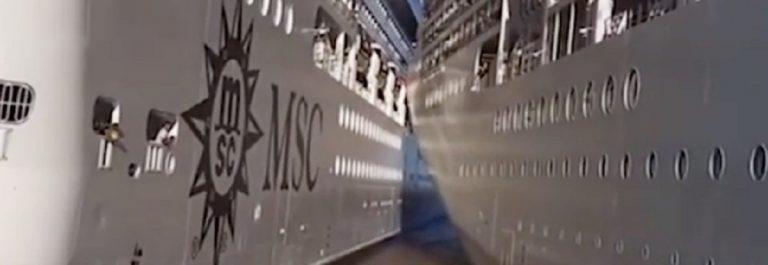 Buenos Aires, incidente al porto: scontro tra due navi da crociera